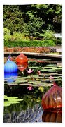Chihuly Ball Lily Pond Beach Towel