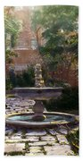 Child And Fountain Beach Towel