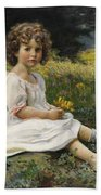 Child In The Meadow Beach Towel