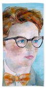 Child With Glasses Beach Towel