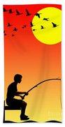 Childhood Dreams 3 Fishing Beach Towel