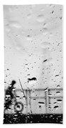Children In Rain Beach Towel