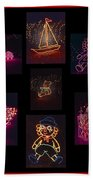 Children's Toys In Lights Poster 2 Beach Towel