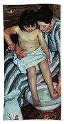 Child's Bath Beach Towel by Mary Cassatt
