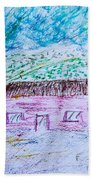 Child's Drawing Beach Towel