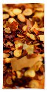 Chili Pepper Flakes Beach Towel