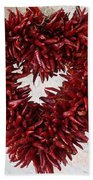 Chili Pepper Heart Beach Towel