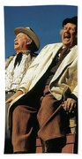Chill Wills And Andy Devine Singing Atop A Stagecoach Old Tucson Arizona 1971 Beach Towel