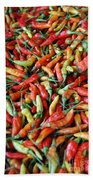 Chilli Background Beach Towel