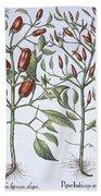 Chilli Pepper Plants Beach Towel