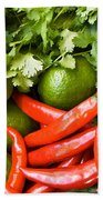 Chillies And Limes Beach Towel