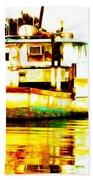 Chincoteague Boat Reflections Beach Towel