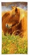 Chincoteague Pony Profile Beach Towel