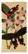 Chinese Butterflies Beach Towel by Philip Ralley