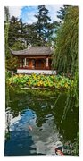 Chinese Garden Dream Beach Towel