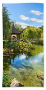 Chinese Garden Lake Beach Towel