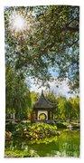 Chinese Garden Sun Beach Towel