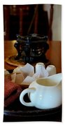 Chinese Tea Pot Cups Towel Tray And Plates Beach Towel