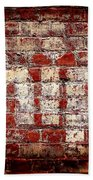 Chips Brick Wall Beach Towel
