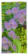 Chives 3 Beach Towel