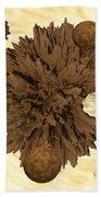 Chocolate Asteroids Beach Towel