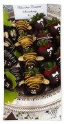 Chocolate Berries Beach Towel
