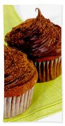 Chocolate Cupcakes Beach Towel