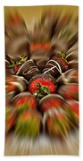 Chocolate Strawberry Rush Beach Towel
