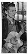 Chris Craig - New Orleans Musician Bw Beach Towel