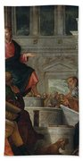 Christ Among The Doctors In The Temple Beach Towel