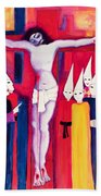 Christ And The Politicians Beach Towel