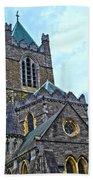Christ Church Cathedral In Dublin Beach Towel