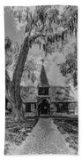 Christ Church Etching Beach Towel by Debra and Dave Vanderlaan