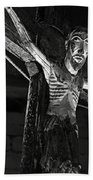 Christ Of Salardu - Bw Beach Towel