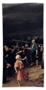 Christ On The Cross Beach Towel by Mihaly Munkacsy