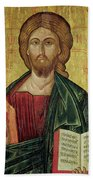 Christ Pantocrator Beach Towel