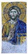 Christ Pantocrator II Beach Towel