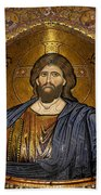 Christ Pantocrator Mosaic Beach Towel by RicardMN Photography