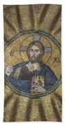 Christ Pantocrator Surrounded By The Prophets Of The Old Testament 2 Beach Sheet