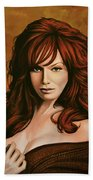 Christina Hendricks Painting Beach Towel