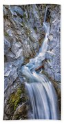 Christine Falls In Mount Rainier National Park Beach Towel