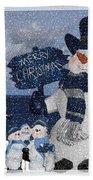 Christmas - Snowmen Collection - Family - Peace - Snow Beach Towel