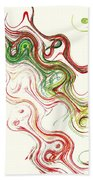 Christmas Abstract Beach Towel