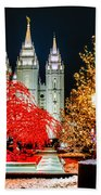 Christmas At Temple Square Beach Towel