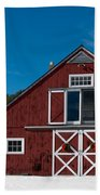 Christmas Barn Beach Towel by Edward Fielding
