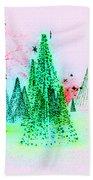 Christmas Blues And Greens Beach Towel