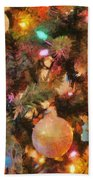 Christmas Branches Beach Towel