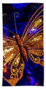 Christmas Butterfly Beach Towel