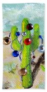 Christmas Cactus Beach Towel