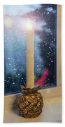 Christmas Candle Beach Towel